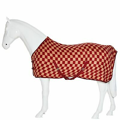 £16.99 • Buy Chequered Cooler Rugs Stable Horse Pony Standard Neck Show Fleece Event Travel