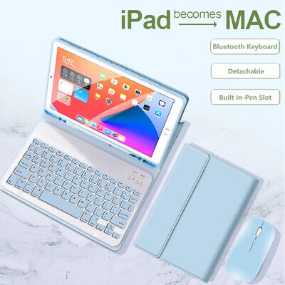 AU21.95 • Buy Bluetooth Keyboard Mouse Leather Smart Case For IPad 9.7 Pro 10.5 Air 4 6/7/8th