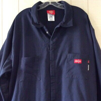$44.99 • Buy Dickies Coveralls Flame Resistant Mens 3XL Navy Blue UL Certified NFPA 2112
