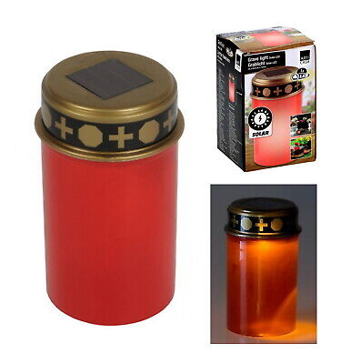 £8.99 • Buy LED Grave Candle Memorial Light Solar Powered Remembrance Grave Cemetery Outdoor