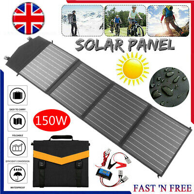 £115.45 • Buy 150w 18v Foldable Solar Panel Kit Mono Home Battery Charger Camping Rv Boat Car