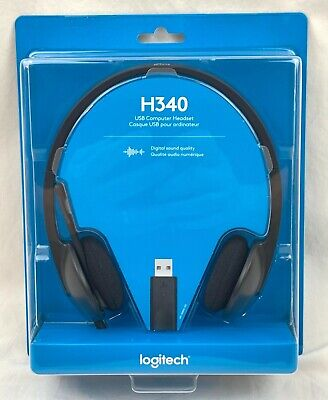 NEW Logitech USB Headset H340 For Video Conference Skype Teams Zoom Cisco Adobe  • 21.60£