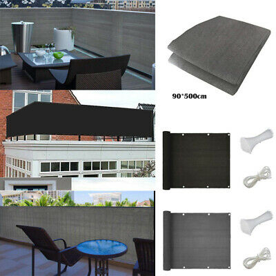 £15.86 • Buy UK 5M Balcony Screen Privacy Sunshade Garden Fence Panel Cover Breathable Net