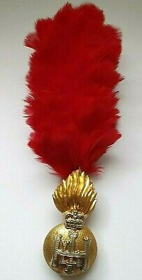 £18 • Buy Scottish HLI Highland Light Infantry Cap Badge With Red Hackle - Queens Crown