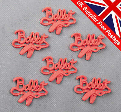 £2.89 • Buy 6 Pcs Ballet Word Sentiment Cabochon Embellishment Crafting Card Making #W332