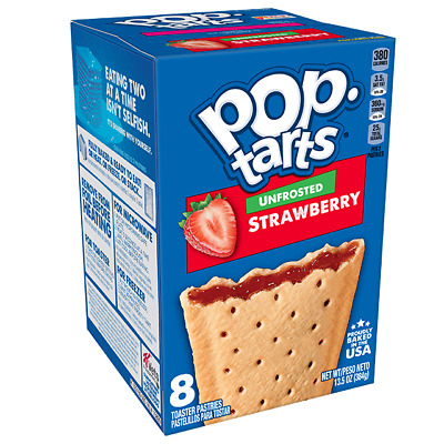 £5.99 • Buy Kellogg's Pop Tarts Unfrosted Strawberry Toaster Pastries BEST BEFORE 20/05/21