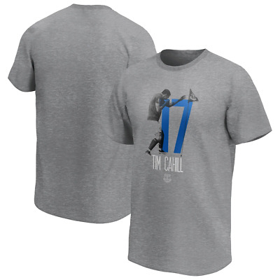 Everton FC Men's T-Shirt Tim Cahill Graphic T-Shirt - Grey - New • 11.99£