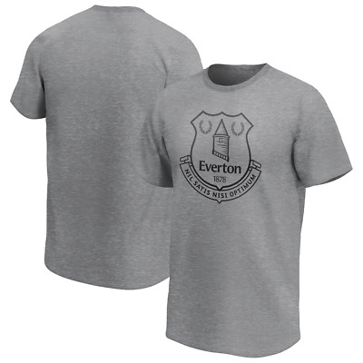 Everton FC Men's T-Shirt Mono Logo Graphic T-Shirt - Grey - New • 11.99£