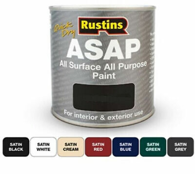£9.24 • Buy Rustins  ASAP Quick Dry All Surface All Purpose Paint - All Colours - All Sizes