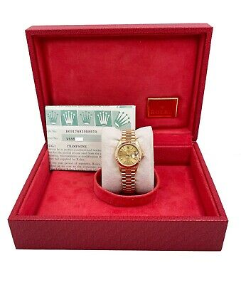 $ CDN11071.58 • Buy Rolex Ladies President Datejust 69178 Champagne Dial 18K  Yellow Gold Box Papers