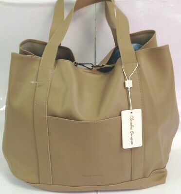 £22 • Buy New With Tags Claudia Canova Soft Patent Slouch Bag Taupe Designer Fashion #NG