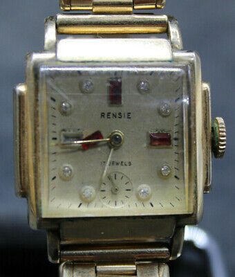 £54.29 • Buy RENSIE AVALON WATCH Co. ART-DECO WRISTWATCH GOLD FILLED FOR REPAIR (R3M2)