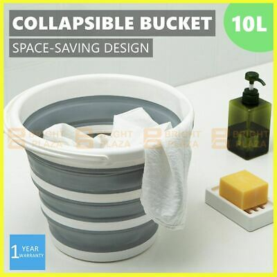 AU17.95 • Buy 10L Collapsible Folding Bucket Silicone Water Container Hiking Camping Fishing