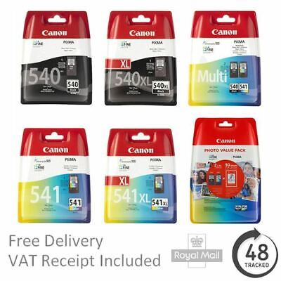 £22.95 • Buy Genuine Canon PG540 & CL541 Ink Cartridges Std/XL Capacity For PIXMA Printers