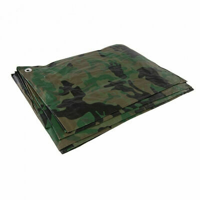 Camo Camouflage Tarpaulin Strong Army Waterproof Camping Ground Sheet & Outdoor • 10.99£
