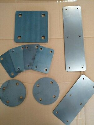 £6 • Buy MILD STEEL Square 3-10mm FIXING PLATE 75, 100, 125 & 150 Mm  Laser Cut 4 Holes