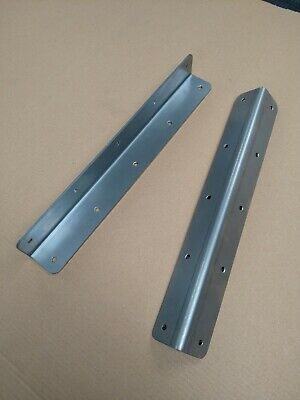 £14.99 • Buy Easy Timber Fence Post Repair Steel Angle Brackets Pre Drilled PAIR