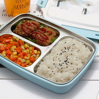 AU18.73 • Buy Lunch Box Bento Thermos Heat Food Container Portable Box R