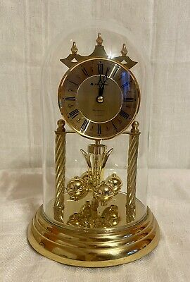 £140.89 • Buy JUNGHANS WORKING VINTAGE GLASS DOME CLOCK MADE IN GERMANY. Chimes Beautifully!