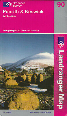 Ordnance Survey 1:50000 Landranger Map - 90 - Penrith & Keswick - Published 2006 • 2£