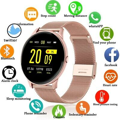 AU24.59 • Buy Waterproof Women Smart Watch Fitness Tracker Heart Rate Monitor Iphone Samsung
