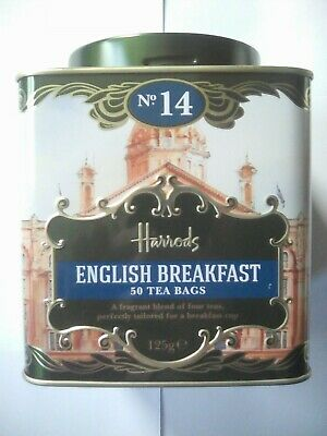 £15.95 • Buy Harrods Heritage Caddy. English Breakfast. 50 Tea Bags. First Class Delivery.