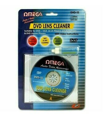 £3.79 • Buy Laser Lens Cleaner Disc Cleaning Kit For Dvd Cd Vcd Xbox Ps3 & Blu Ray Players