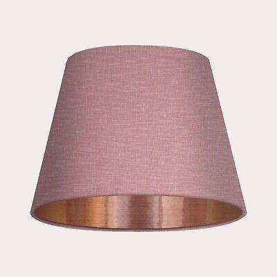 £85 • Buy Empire Tapered Mauve Textured 100%  Linen Copper Lining Lampshade