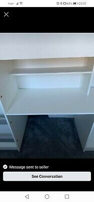£130 • Buy White High Sleeper Cabin Bed,  Built In Wardrobe Blue, And Desk With Stood.
