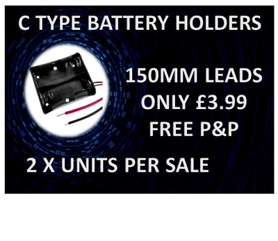 £3.99 • Buy C Type Battery Holders 2 Units For £3.99 With Free P&p