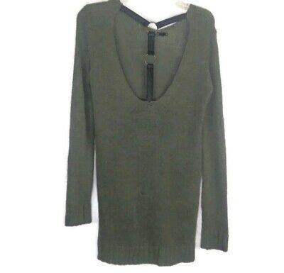 $10.49 • Buy Millau Strappy Open Back Tunic Sweater In Green Size S