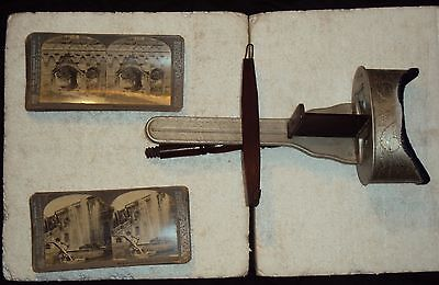 £356.33 • Buy STEREO SCOPE Antique Vintage Wood Stereo Viewer Picture Slides With Stereo Card