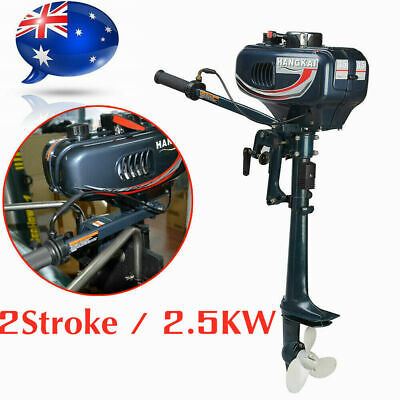 AU327 • Buy Hangkai 2Stroke Boat Engine 3.5HP Water Cooling Outboard Motor+CDI System