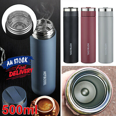 AU19.59 • Buy Tea Bottle Cup Insulated Stainless Steel Portable Vacuum Water Mug Thermos