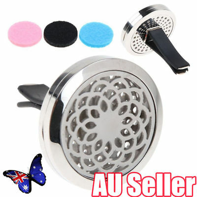 AU9.92 • Buy Stainless Car Air Vent Freshener Essential Oil Diffuser Locket Aromatherapy MN