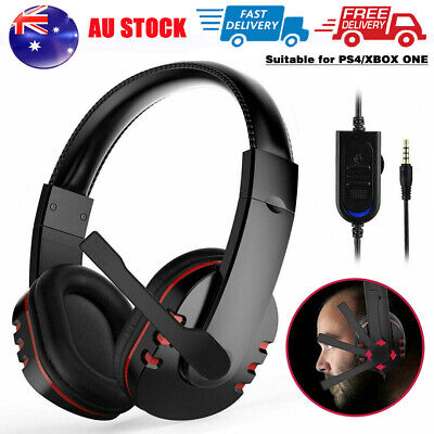 AU14.69 • Buy Durable Stereo Gaming Headset Headphone Wired With Mic For PC Xbox One PS4