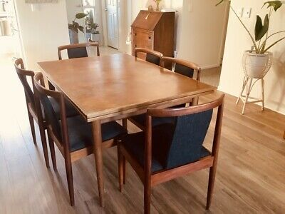 AU2500 • Buy Parker Teak Dining Table & 6 Restored Chairs Mid Century