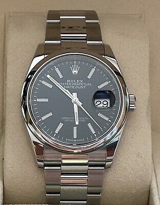 $ CDN9655.41 • Buy Rolex Datejust 126200 36mm Automatic Box And Papers Black Dial
