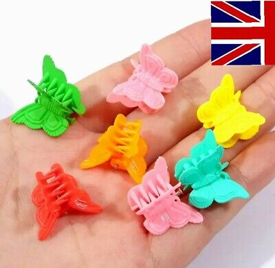 £2.99 • Buy 10 Butterfly Mini Claw Clips Small Plastic Hair Clips Hair Clamps Mix Colour UK