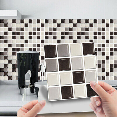 £5.69 • Buy 30x Mosaic Tile Stickers Stick On Bathroom Kitchen Home Wall Decal Self-adhesive