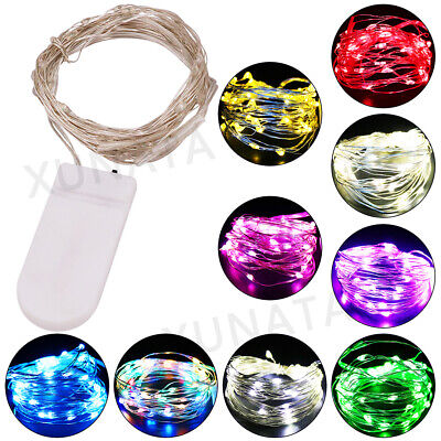 £1.59 • Buy LED Battery Operated Silver Wire String Fairy Lights Christmas Party Home Decor