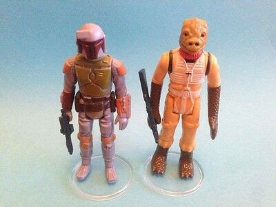 £3.50 • Buy Star Wars Vintage - 10 Large CLEAR Figure Display Stands 1.5  - New! MIX & MATCH