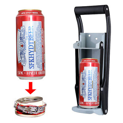 £10.99 • Buy 16oz Heavy Duty Beer Tin Can Crusher Wall Mounted Recycling Tool Bottle Opener