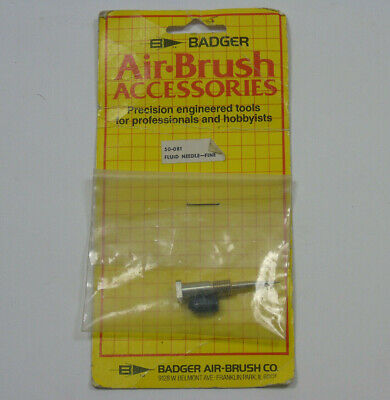£9.99 • Buy 50-081 Badger Airbrush Parts Accessories Fluid Needle Fine Vintage New In Packet