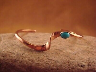 £9.37 • Buy Native American Jewelry Copper & Turquoise Bracelet By Skeets