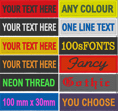 £3.99 • Buy Personalised Name Patch - Embroidered 1 Line Text, Airsoft, Scouts, Club, Biker