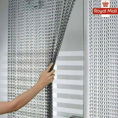 Chain Curtain Aluminum Door Curtain Metal Anti-Mosquito Chain Fly Insect Screen • 31.98£