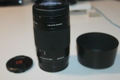 AU99.99 • Buy Sony Alpha (A Mount) 75-300mm F/4.5-5.6 Telephoto Lens With Macro (SAL75300)