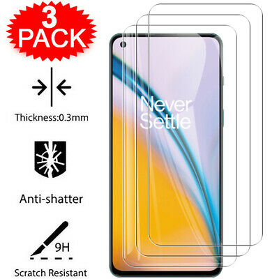 AU5.13 • Buy 3Pcs Tempered Glass Screen Protector For OnePlus 6 6T 7 7T 8T 9 9R Nord N10 N100
