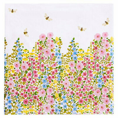 £10 • Buy 260 X Flower And Bee Serviettes Garden Party Or Decoupage